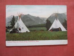 Flat Head Indians Near Mission Range    Missoula   Montana   Ref  3855 - Indiani Dell'America Del Nord