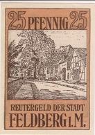 Deutschland Notgeld 25 Pfennig Mehl361.1 FELDBERG /81M/ - Lokale Ausgaben
