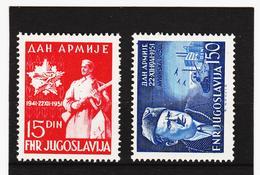 IMO126 JUGOSLAWIEN 1951  Michl 675/76 ** Postfrisch SIEHE ABBILDUNG - 1945-1992 République Fédérative Populaire De Yougoslavie