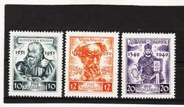 IMO128 JUGOSLAWIEN 1951  Michl 668/70 (*) FALZ SIEHE ABBILDUNG - 1945-1992 République Fédérative Populaire De Yougoslavie