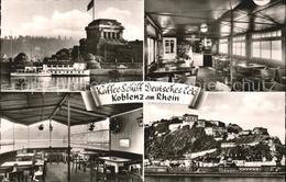 72507272 Koblenz Rhein Kaffee Schiff Deutsches Eck Koblenz - Allemagne