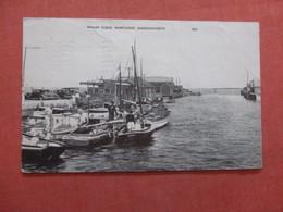 Massachusetts > Nantucket Wharf Scene  Has Crease    Ref  3855 - Nantucket
