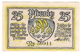 Deutschland Notgeld 25 Pfennig Mehl1067.1 POTTMES /81M/ - Lokale Ausgaben