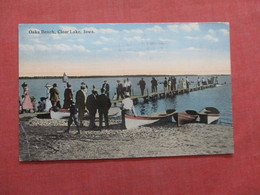 Oaks Beach  Clear Lake  Iowa >       Ref  3856 - Estados Unidos