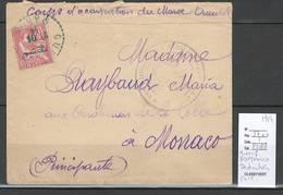 Maroc - Lettre De Guercif Pour Monaco -1914 - Destination Exceptionnelle - Maroc (1891-1956)