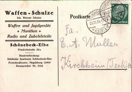 ! 1 Beleg 1934 Aus Schönebeck An Der Elbe, Waffen Schulze, Sachsen-Anhalt - Cartas