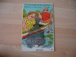 Carte A Systeme Quimper Il N Y A Pas De Poisson Soulevez Vous Verrez - Quimper