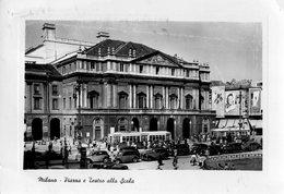 MILANO-PIAZZA DELLA SCALA E TEATRO-TRAM-BREITLING-1954 - Milano (Milan)