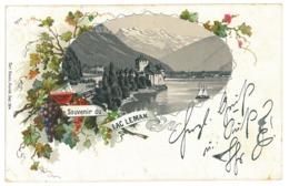 EL 01 - 17053 LEMAN LAKE, Litho, Switzerland - Old Postcard - Used - 1898 - Unclassified