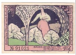 Deutschland Notgeld 25 Pfennig Mehl1158.1 SALZIG /79M/ - Lokale Ausgaben