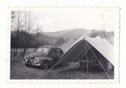 PHOTO  9 X 6 CAMPING Du Lac Bleu A Massevaux  Haut Rhin   VOITURE RENAULT  4 CV  VOIR VERSO 1956 - Sin Clasificación