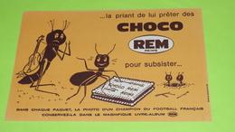 BUVARD - FABLE DE LA FONTAINE - La Cigale Et La Fourmi - 20.5 X 13.5 - PUB Choco REM Reims Foot - Très Bon état  / 231 - Alimentare