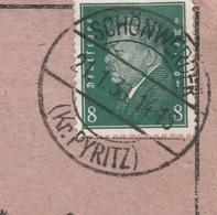 Deutsches Reich Karte Mit Tagesstempel Schönwerder Kr Pyritz 1930 Pommern RB Stettin - Deutschland