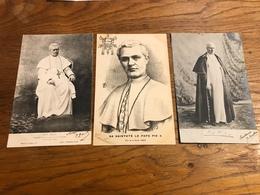 Lot De 3 Cartes 1903 Pape Pie X - Popes