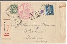 Lettre Recommandée Montéreau 1926 - France
