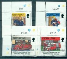 GIBRALTAR N° 603 / 606 N Xx C De F TB Cote:9.50 € . POMPIERS - Gibraltar
