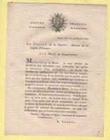 Prefet De La Manche - 22 Fevrier 1808 - Quete Et Souscription Apres La Tempete De Cherbourg - Documents Historiques