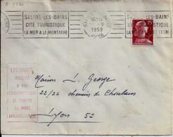 """LYON / 69 : CACHET D'INFORMATION POSTALE """"LYONNAIS INDIQUEZ A VOS CORRESPONDANTS LE NUMERO DE VOTRE ARRONDISSEMENT"""" 1959 - Plaatfouten En Curiosa"""