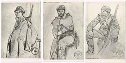 8 Postracds: MILITARY ARTIST 1914/18 - Pologne