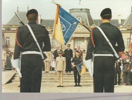 C. P.- PHOTO - LUNEVILLE - EVENEMENT - CARTE 17 - N° 70/1000 - LE 30° GROUPE DE CHASSEURS DISSOUS EN 1990 QUITTE LA CITE - Casernes