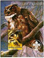 Block  EULE, Owls - Fantasie Vignetten