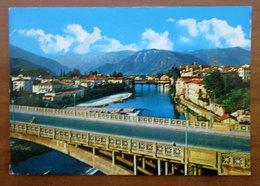 BASSANO DEL GRAPPA Ponti Sul Brenta Massiccio Del Grappa CARTOLINA  1975 Viaggiata - Italy