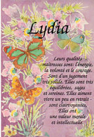 LYDIA   - Aquarelle De Lydie Lechner - Papillons (2502 ASO) - Firstnames
