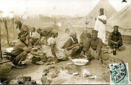 C.P.A.MAROC.CARTE PHOTO.CAMP DE TIRAILLEURS MAROCAIN OU SENEGALAIS...? - Casablanca