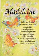 MADELEINE   - Aquarelle De Lydie Lechner - Papillons (2503 ASO) - Voornamen