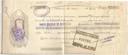LETRA CAMBIO 1935 DIPUTACION DE GUIPUZCOA CON SELLO FISCAL AÑADIDO DIPUTACION DE ALAVA - Letras De Cambio