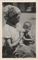 Congo Belge, Belgium Congo, Femme Donne Le Sein, 2 Scans - Afrique Du Sud, Est, Ouest