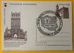 9958 - Cachet 35 Lat Ruchu Esperanckiego 1945-1980 Czestochowa 15.12.1980sur Entier Postal Pologne - Esperánto