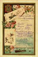 MENU...COMPAGNIE DES MESSAGERIES MARITIMES.....PAQUEBOT...1ere CLASSE..non Ecrit..1890 - Menus