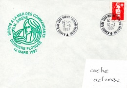 SOUS MARIN SIRENE Dernière Plongée Obl. Base Sous Marins Toulon Marine 12/03/97 - Postmark Collection (Covers)
