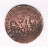 6 PFENNING  1761  BENTHEIM  TECKLENBURG  RHEDA   DUITSLAND /676/ - Small Coins & Other Subdivisions