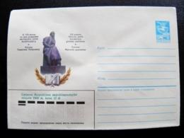 Envelope Lithuania Postal Stationery Cover Ussr Overprint Lietuvos Respublikos Nepriklausomybe 1990 Monument Maironis - Lithuania