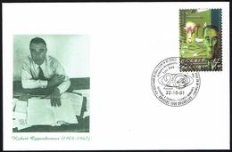 Belgien Belgie Belgium 2001 - Julius Robert Oppenheimer, Amerikanischer Atomphysiker - MiNr 3091 FDC - Briefe U. Dokumente
