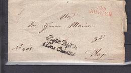 DEPARTEMENTS CONQUIS 124 AURICH + PREFET DEPT DE L'EMS ORIENTAL - Marcophilie (Lettres)