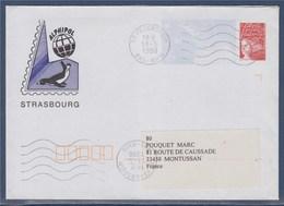 = Repiquage Par Alphipol Strasbourg Enveloppe Entier Marianne De Luquet Dite Du 14 Juillet 3083 Fegersheim 13.5.98 - Eventos Y Conmemoraciones