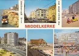 Groeten Uit Middelkerke, 6 Zichten, Tram, Amphibie, Amphibieboot, Duck (pk66332) - Middelkerke