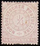 1868. NORDDEUTSCHER POSTBEZIRK.  1/4 GROSCHEN. () - JF320108 - North German Conf.
