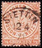 1868. NORDDEUTSCHER POSTBEZIRK.  1/2 GROSCHEN. LUXUS STETTIN 12 4 71. () - JF320111 - North German Conf.