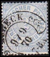 1868. NORDDEUTSCHER POSTBEZIRK.  2 GROSCHEN. Hufeisenstampel LÜBECK 9 / 9 70. () - JF320113 - North German Conf.
