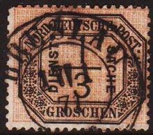 1870. NORDDEUTSCHER POSTBEZIRK. DIENST SACHE 1/3 GROSCHEN. BRESLAU 1 / 11 71. () - JF320128 - North German Conf.