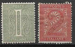 Italy 1863-1865 Mi. Nr.23/24 - Mint/hinged