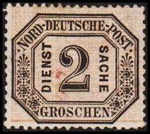 1870. NORDDEUTSCHER POSTBEZIRK. DIENST SACHE 2 GROSCHEN. () - JF320134 - North German Conf.