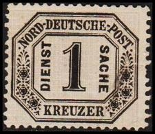 1870. NORDDEUTSCHER POSTBEZIRK. DIENST SACHE 1 KREUZER. () - JF320136 - North German Conf.