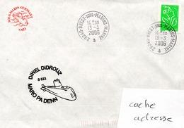 SOUS MARIN OUESSANT DIWEL DIDROUZ MARO PA DENN Obl. Brest Sous Marins Marine 13/03/06 - Naval Post