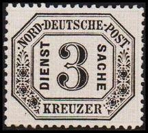 1870. NORDDEUTSCHER POSTBEZIRK. DIENST SACHE 3 KREUZER. () - JF320137 - North German Conf.