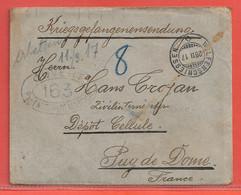 SUISSE LETTRE CENSUREE CAMP DE PRISONNIER DE 1917 DE WOLFENSCHIESSEN POUR POUR CELLULE FRANCE - Franchise